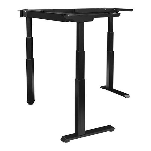 Office Star - 3-stage / 3-motor / 3-leg Electric Height-adjustable Base for L-shape Workstations, Black