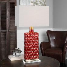 Almina Table Lamp, RED, Lamp
