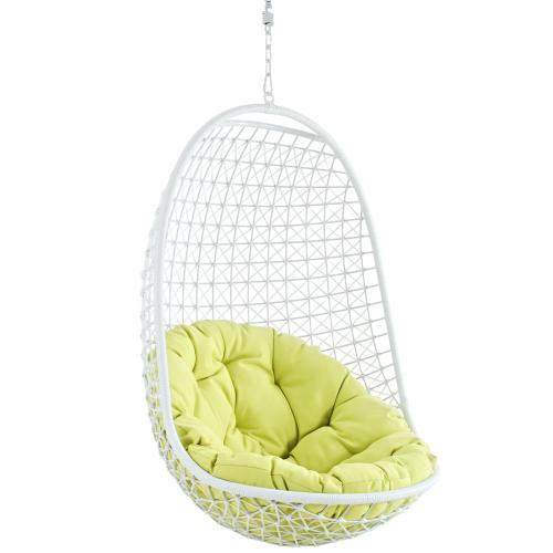Encounter Swing Outdoor Patio Fabric Lounge Chair in White