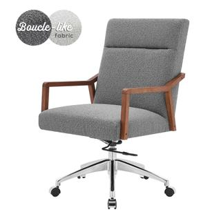 See Details - Kendrick KD Fabric Office Chair, Boucle Gray