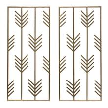 2/asst Gold Arrow Wall Sculptures, Gold