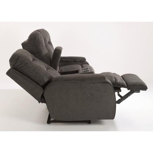Kane Fabric Power Reclining Loveseat with Console