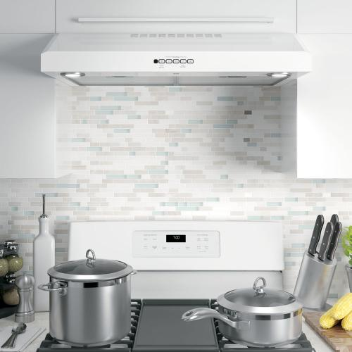 "GE 30"" 4 Speed Unde the Cabinet Vent Hood White JVX5300DJWWC"