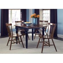 View Product - Drop Leaf Table - Black & Tobacco