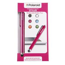 Polaroid Tablet and Smartphone Stylus with Replaceable Rubber Tips, Pink - PAC1201PK