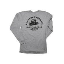 See Details - Heather Gray Long Sleeve with Motorcycle Graphic-L