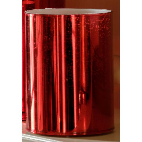 """4"""" Red Shimmer LED Candle"""
