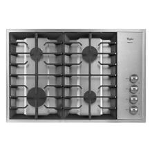 View Product - Gold® 30-inch Gas Cooktop with Recessed Grate Design