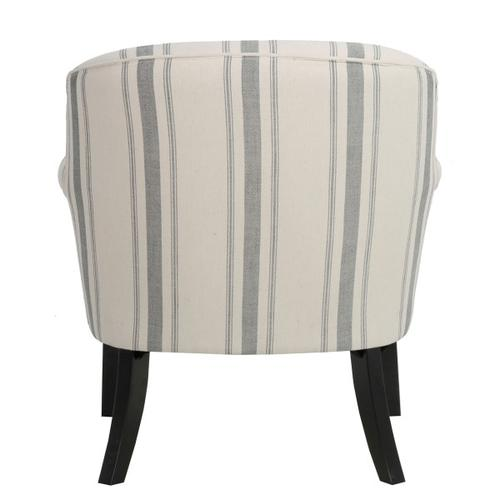 Accentrics Home - Upholstered Roll Arm Accent Chair in Cambridge Black Stripe