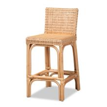 See Details - Baxton Studio Athena Modern and Contemporary Natural Finished Rattan Counter Stool