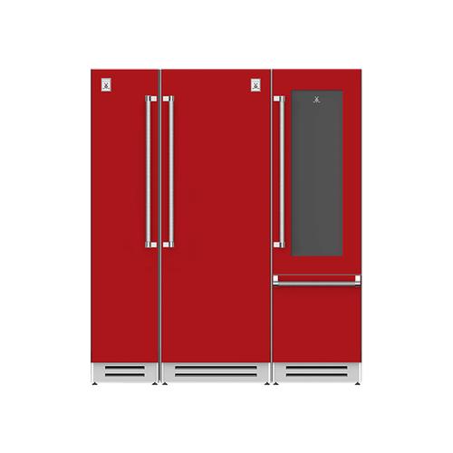"Hestan - 72"" Column Freezer (L), Refrigerator and Wine Refrigerator ® Ensemble Refrigeration Suite - Matador"