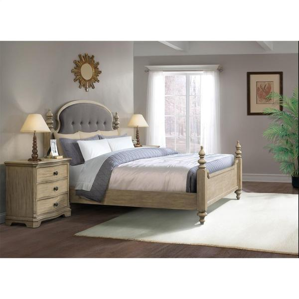 See Details - Corinne - Three Drawer Nightstand - Sun-drenched Acacia Finish