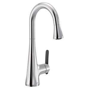 Sinema chrome one-handle pulldown bar faucet Product Image