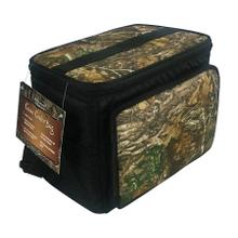See Details - Brentwood Kool Zone CM-1200 12-Can Insulated Cooler Bag with Hard Liner, Realtree Edge Camo