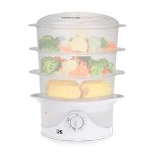 Kalorik 9 Quart 3-Tier Food Steamer, White
