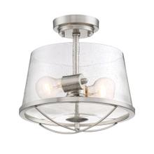 See Details - 2 Light Semi Flush in Silver, Brushed Nickel