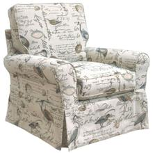 See Details - Horizon Slipcovered Box Cushion Swivel Rocking Chair - Color 854825