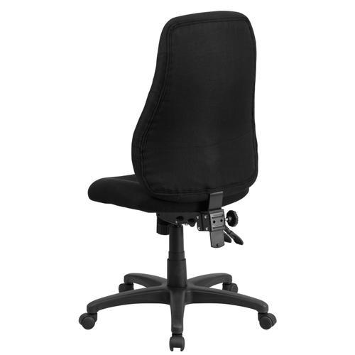 Gallery - High Back Black Fabric Multifunction Swivel Ergonomic Task Office Chair