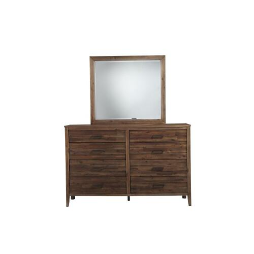 Cresswell 8-Drawer Dresser, Walnut Finish