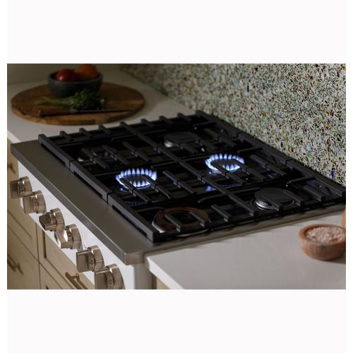 """Gallery - Café™ 36"""" Commercial-Style Gas Rangetop with 6 Burners (Natural Gas)"""