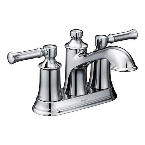 Dartmoor Chrome two-handle high arc bathroom faucet