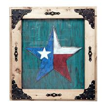 Turquoise Painted Texas Star