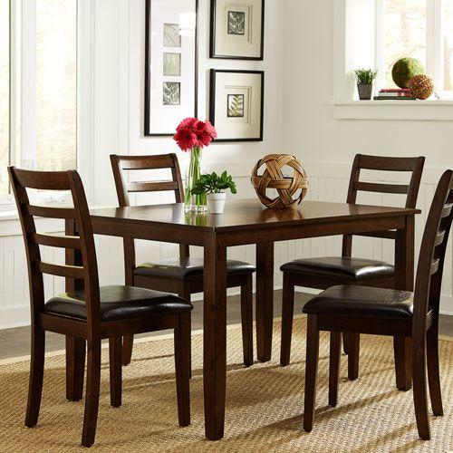 5 Piece Rectangular Leg Table Set