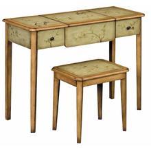 Desk-mirror-stool Set Soft Green