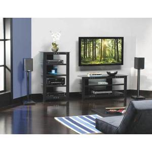Sanus - Black Audio Stand Contemporary design and solid construction come together to create strength and beauty