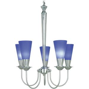 5-lite Ceiling Lamp, Ps/blue, 60wx5/b Type