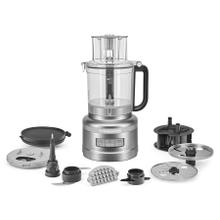 See Details - 13-Cup Food Processor with Dicing Kit - Contour Silver