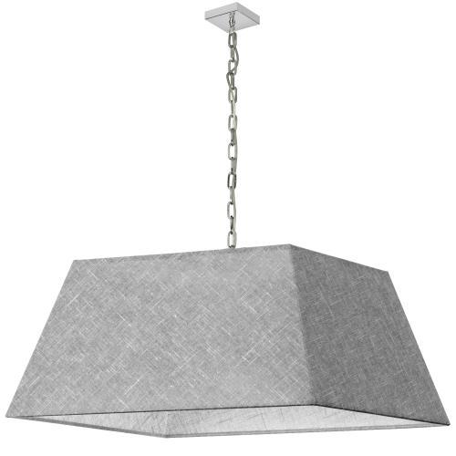 1lt Milano X-large Pendant, Gry/clr Shade, PC