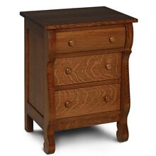 Empire Nightstand with Drawers