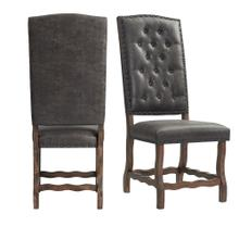 See Details - Gramercy Tufted Tall Back Side Chair Set