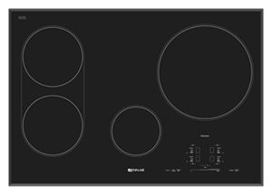 "Black Floating Glass 30"" Induction Cooktop"