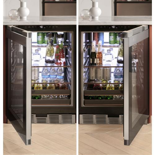 Café™ Beverage Center in Platinum Glass