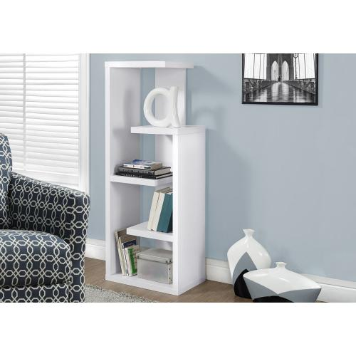 """Gallery - BOOKCASE - 48""""H / WHITE ACCENT DISPLAY UNIT"""
