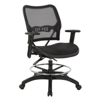 Deluxe Ergonomic Airgrid® Seat and Back Drafting Chair With Arms