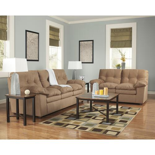 Signature Design by Ashley Mercer Living Room Set in Mocha Fabric
