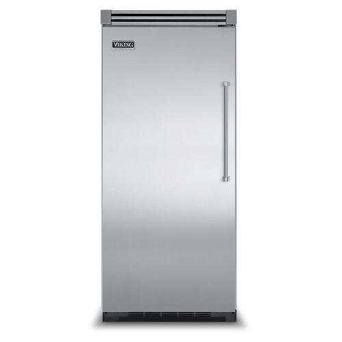"Viking - Stainless Steel 36"" Quiet Cool™ All Refrigerator - VIRB Tru-Flush™ (Left Hinge Door)"