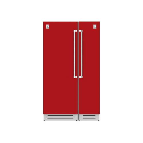 "Hestan - 48"" Column Refrigerator (L) and Freezer ® Ensemble Refrigeration Suite - Matador"