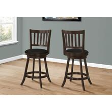 """See Details - BARSTOOL - 2PCS / 39""""H / ESPRESSO / SWIVEL COUNTER HEIGHT"""