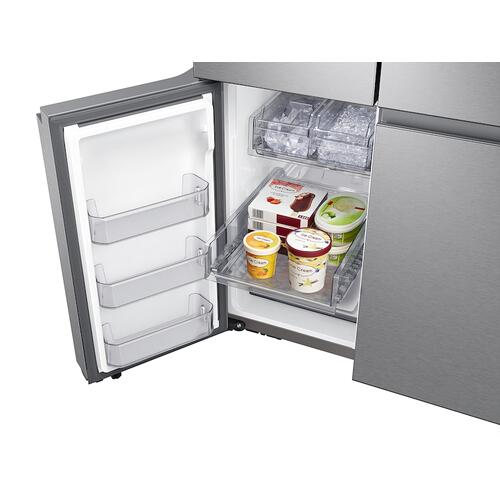 Samsung - 23 cu. ft. Smart Counter Depth 4-Door Flex™ refrigerator with AutoFill Water Pitcher and Dual Ice Maker in Stainless Steel