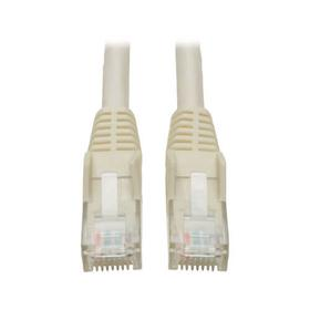 Cat6 Gigabit Snagless Molded (UTP) Ethernet Cable (RJ45 M/M), White, 1 ft. (0.31 m)