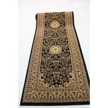 "Persian Design 1 Million Point Heatset Monalisa 5016 Area Rugs by Rug Factory Plus - 2'8"" x 10' / Black"