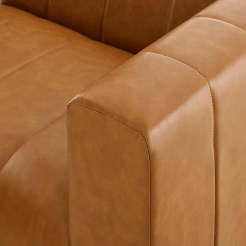 Modway - Bartlett Vegan Leather Right-Arm Chair in Tan