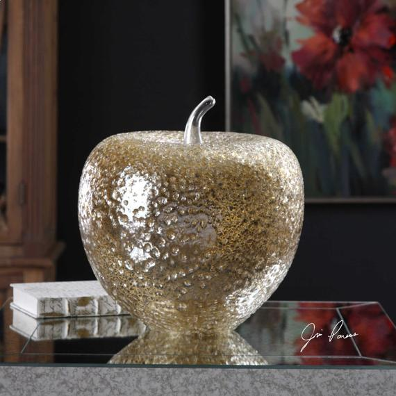 Golden Apple Sculpture