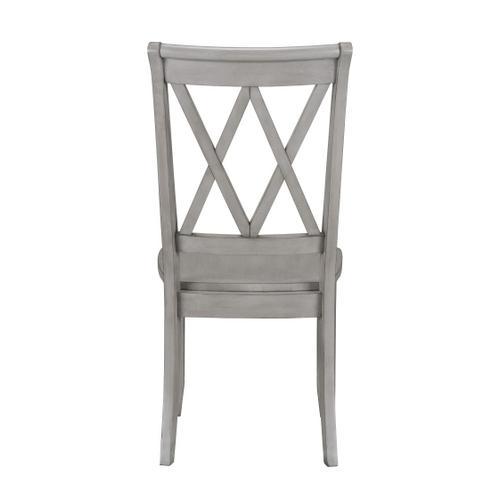 Standard Furniture - Vintage 2-Pack X-Back Side Chair, Grey
