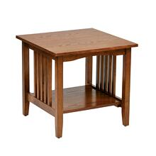 See Details - Sierra Mission End Table In Oak Finish