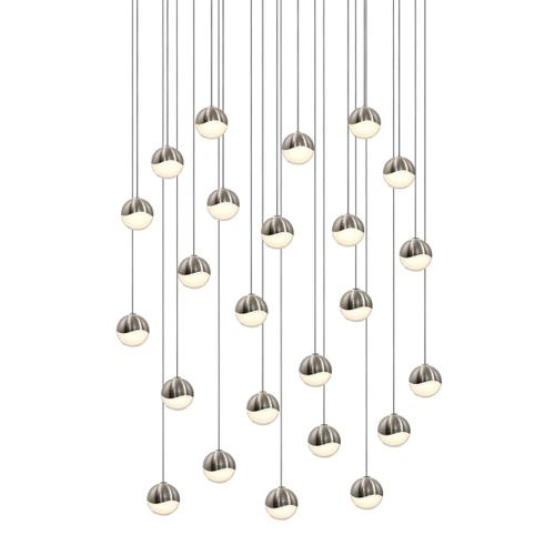 Sonneman - A Way of Light - Grapes® LED Pendant [Size=24-Light Small, Color/Finish=Satin Nickel, Shape=Round Canopy]